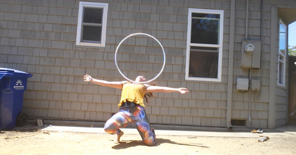 Amazing Hula Hoop Girl Has A Strong Message For Those Watching